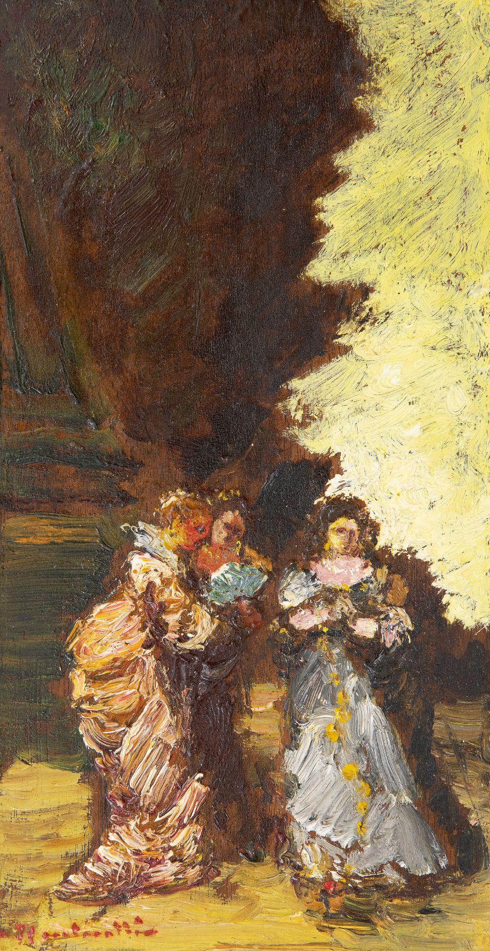 Adolphe Monticelli | Schilderijen te Koop | Trois femmes dans un parc