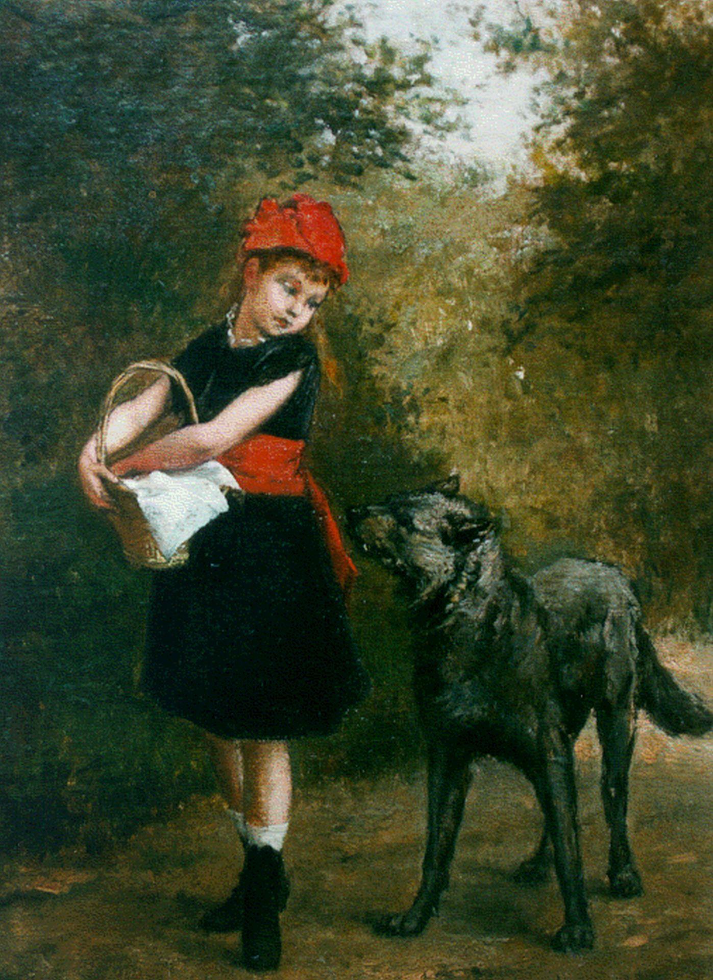 Uitgelezene Albert Roosenboom | Schilderijen vh. te Koop | Roodkapje en de wolf PK-14