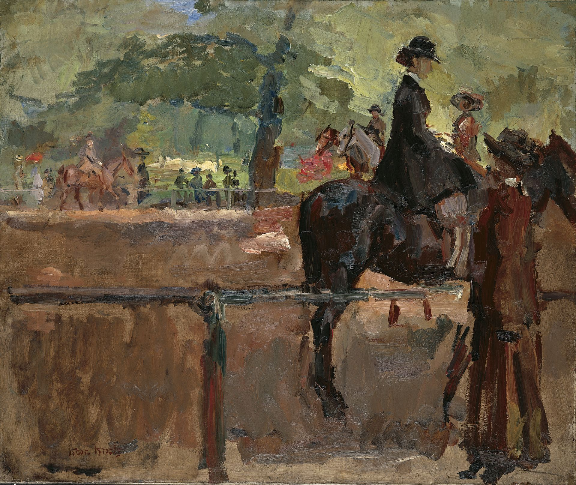 Isaac Israels | Schilderijen vh. te Koop | Amazone in Hyde Park, Londen