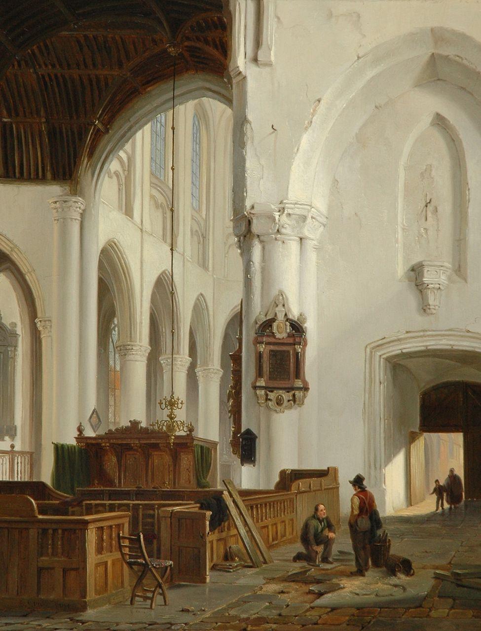 hove bj van bartholomeus johannes bart van hove interieur van de grote kerk in den