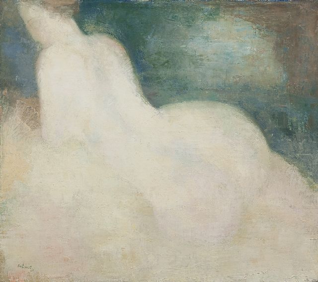 Kelder A.B.  | Female nude, oil on canvas 36.7 x 41.1 cm, signed l.l.