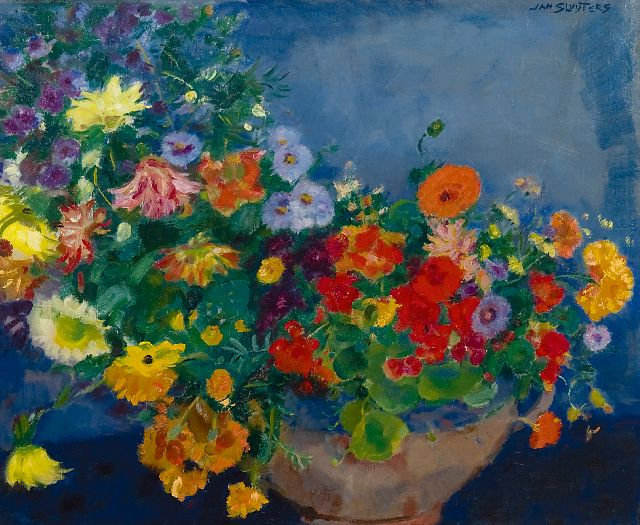 Sluijters J.C.B.  | Colourful flowers, oil on canvas 60.0 x 72.9 cm, signed u.r.