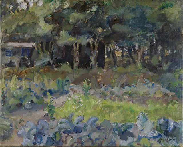 Altink J.  | A kitchen garden with a shed, Öl auf Leinwand 41,5 x 52,4 cm, signed l.r.