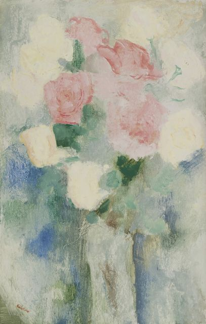 Kelder A.B.  | A still life with roses, oil on board 52.1 x 33.2 cm, signed l.l.
