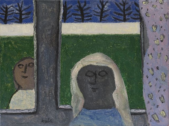 Roëde J.  | Inside and outside, oil on canvas 44.7 x 60.1 cm, signed l.l.