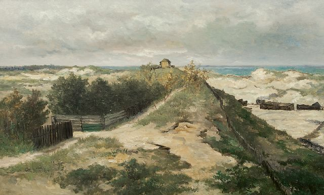 Mesdag H.W.  | The dunes in Scheveningen, oil on panel 70.1 x 115.2 cm