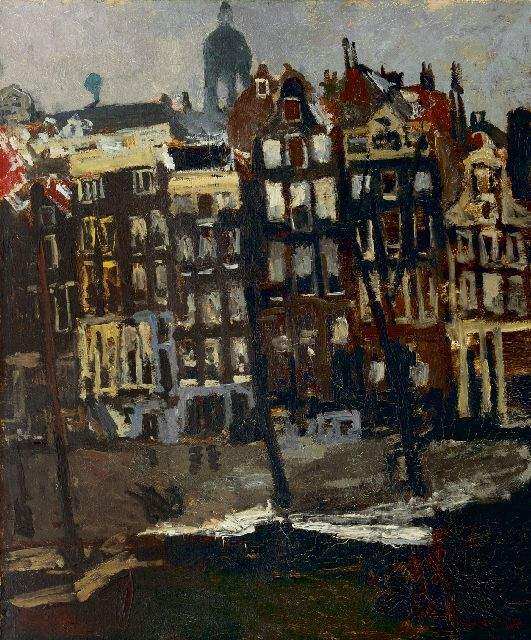 Breitner G.H.  | The Singel, Amsterdam, oil on canvas 80.5 x 70.0 cm, signed l.r. and painted ca. 1895-1901