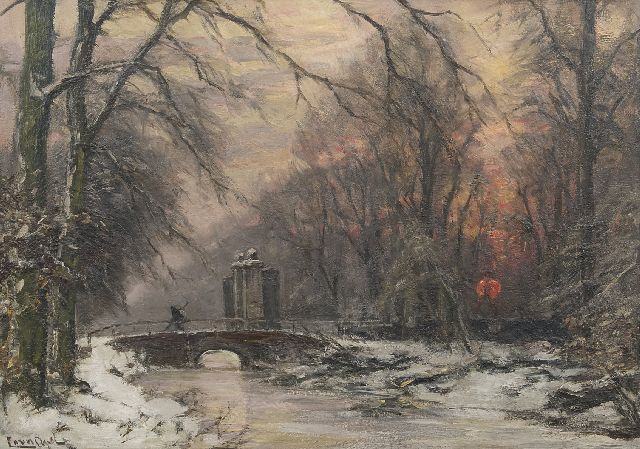 Apol L.F.H.  | The entrance of Huis ten Bosch in winter, oil on canvas 50.5 x 70.5 cm, signed l.l.
