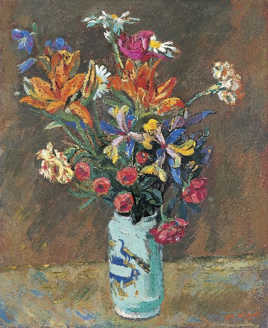 Wiegers J.  | A bunch of wildflowers, Öl auf Leinwand 61,3 x 50,6 cm, signed l.r. und dated '44