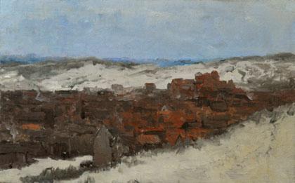 Hendrik Willem Mesdag, 'Schets van het dorp Scheveningen'