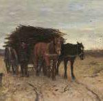 Mauve A. - Houtsprokkelaar, olieverf op doek 33,8 x 54,1 cm, gesigneerd r.o.