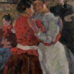 Israels I.L. - Danshal, Zeedijk, Amsterdam, olieverf op doek 97,5 x 74,5 cm, gesigneerd l.o. en te dateren ca. 1892-1893