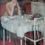 Hem P. van der - Café de Paris, olieverf op doek 88 x 57,3 cm, gesigneerd r.o.