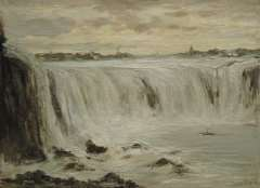 Apol L.F.H. - De Niagara watervallen, olie op doek 30,3 x 40,5 cm , gesigneerd r.o.