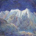 Vis D. - Berglandschap, olieverf op doek 50,1 x 60,2 cm, gesigneerd r.b. en verso