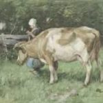 Mauve A. - De dubbele taak, aquarel op papier 23,8 x 34 cm, gesigneerd r.o. en te dateren ca. 1875