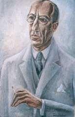 Lubbers A. - Portret van Piet Mondriaan, olie op doek 81,3 x 54,7 cm , gesigneerd r.o. en gedateerd 1931
