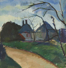 Schelfhout L. - Paysage, olie op doek 48 x 46,1 cm , gesigneerd l.o. en op spierraam gedateerd 1910