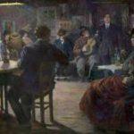 Bloos R.W. - Café chantant, olieverf op doek 132,5 x 165,8 cm, gesigneerd l.o. en gedateerd 'Paris 09'
