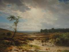 Lieste C. - Heathland near Oosterbeek, oil on panel 70.9 x 95.2 cm , signed l.l.