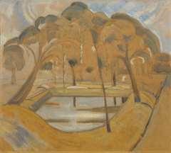 Heemskerck van Beest J.B. van - Parkgezicht, Domburg, olie op board 45 x 51 cm , te dateren ca. 1911