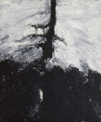 Armando - Der Baum, olie op doek 60 x 50 cm , gesigneerd verso op spieraam en gedateerd op spieraam