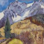 Altink J. - Het Gridone massief, Zwitserland, olieverf op doek 75 x 100,4 cm, gesigneerd r.o. en gedateerd '62