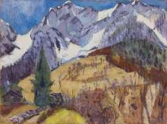 Altink J. - Het Gridone massief, Zwitserland, olie op doek 75 x 100,4 cm , gesigneerd r.o. en gedateerd '62