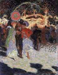 Sluijters J.C.B. - Kermesse à la Porte Maillot, Parijs, olie op doek 35 x 27,3 cm , gesigneerd r.o. en gedateerd 1906