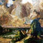 Chabot H. - Polder met kassen, olieverf op doek 72,4 x 83,6 cm, gesigneerd l.o. en gedateerd '45
