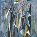 Hunziker F. - Masten en zeilen, olieverf op doek 90,3 x 60,5 cm, gesigneerd l.b. en gedateerd 9/47