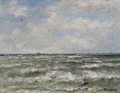 Mesdag H.W. - At sea, oil on canvas 40.2 x 51.3 cm , signed l.r.