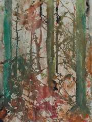 Jordens J.G, - Fir wood, watercolour on paper 64.2 x 47.6 cm , signed u.r. (double) and dated '85