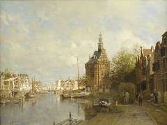 Klinkenberg J.C.K. - The Hoofdtoren, oil on canvas 90 x 120 cm , signed l.l. and dated 1901