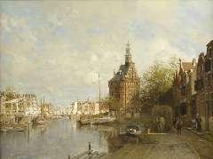 Klinkenberg J.C.K. - De Hoofdtoren te Hoorn, olie op doek 90 x 120 cm , gesigneerd l.o. en gedateerd 1901