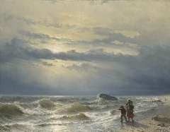 Meijer J.H.L. - Shipwreck, oil on canvas 88.8 x 115.4 cm , signed l.l. and dated 1864
