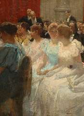 Waay N. van der - In de pauze, Concertgebouw Amsterdam, oil on canvas 80.9 x 61 cm , signed l.r.
