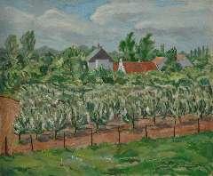 Sluijters jr. J. - Boomgaard, olie op doek 50 x 60,2 cm , gesigneerd r.o.