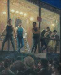 Staller G.J. - The boxing-match, pastel on paper laid down on painters' board 57.5 x 47.5 cm , signed c.r. and dated 1904