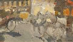 Maks C.J. - Souvenir de Paris, olie op doek 42,5 x 72,4 cm , gesigneerd r.o. en te dateren ca. 1908