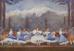 Maks C.J. - Tiroler ballet in the Bouwmeester Revue, Gouache on paper 48 x 68 cm , signed l.l. and painted ca. 1938