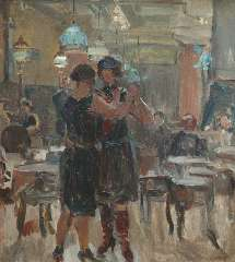 Israels I.L. - The café Scala, The Hague, oil on canvas 65 x 58 cm , signed l.r. and painted between 1927-1934