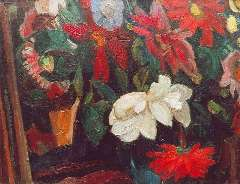 Gestel L. - Bloemen, olie op doek 41,3 x 53,4 cm , gesigneerd r.o. en gedateerd '15