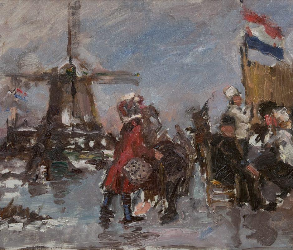 IJsgezicht schilderij Albert Roelofs