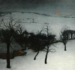 Saedeleer V. de - A winter landscape, olie op doek 126 x 131 cm , signed l.l. and dated 1931