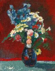Wiegers J. - A summer bouquet, oil on canvas 73.7 x 60.3 cm , signed l.r. and dated '41