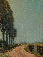 Gestel L. - Zomerdag bij Montfoort, olieverf op doek 70,6 x 55,5 cm, gesigneerd r.o. en gedateerd '09