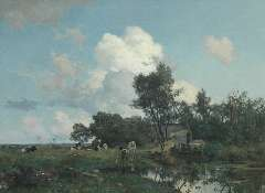 Tholen W.B. - A summer landscape, oil on canvas 75 x 99.5 cm , signed l.l.