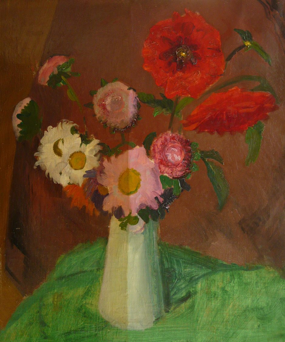 H.J. Kuijten (1883-1952) Bloemstilleven, olieverf op doek 60 x 50 cm, gesign. en gedateerd '25