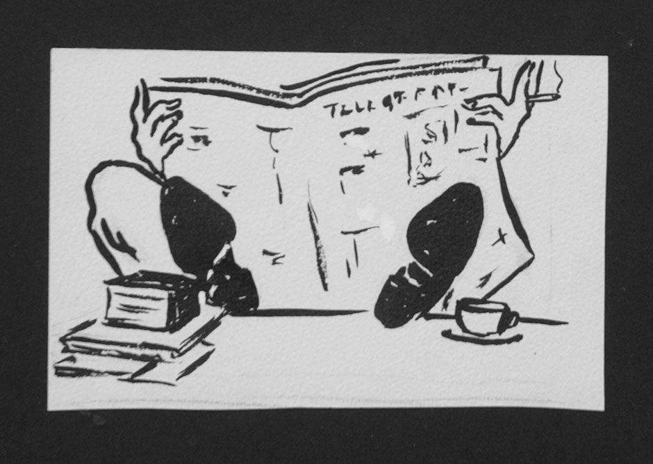 In Ede zijn de oorspronkelijke tekeningen te zien die destijds verduisterd zijn. Waarop Beatrix een tweede serie maakte…